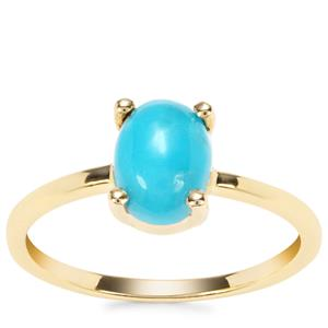 Sleeping Beauty Turquoise Ring in 9K Gold 1.10cts