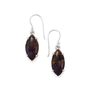 Copper Mojave Amethyst Earrings in Sterling Silver 16cts