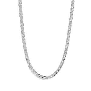 """18"""" Sterling Silver Dettaglio Square Spiga Chain 3.83g"""