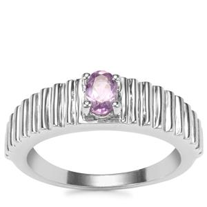 Rose du Maroc Amethyst Ring in Sterling Silver 0.41ct