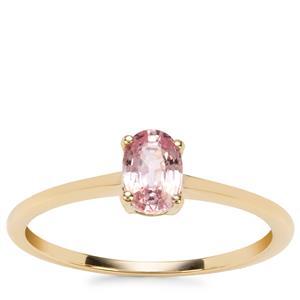 Sakaraha Pink Sapphire Ring in 9K Gold 0.61ct
