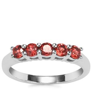 Nampula Garnet Ring in Sterling Silver 0.82cts