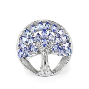 3.21ct Tanzanite Sterling Silver Ring