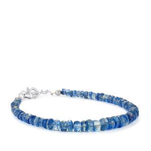 42ct Daha Kyanite Sterling Silver Graduated Bead Bracelet