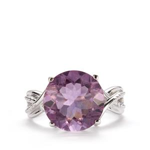 Purple Fluorite Ring in Sterling Silver 7.32cts
