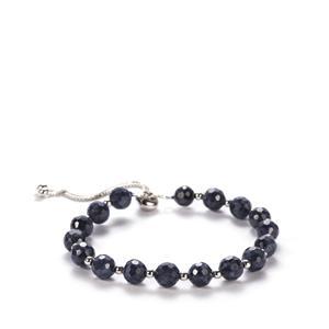 Blue Sapphire Slider Bracelet in Sterling Silver 33.55cts