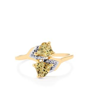 Csarite® Ring with Diamond in 10k Gold 1.03cts
