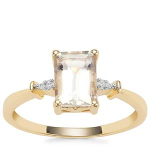 Serenite Ring with White Diamond in 9K Gold 1.59cts