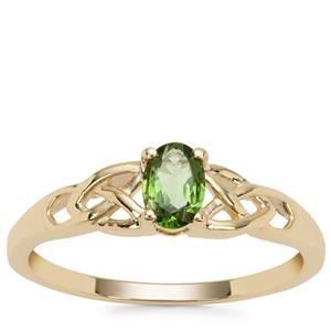 Chrome Tourmaline Ring in 9K Gold 0.38ct