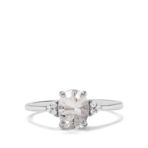 Itinga Petalite & White Zircon Sterling Silver Ring ATGW 1.07cts