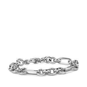 "7"" Sterling Silver Hollow Indo Italian Bracelet 10.10g"