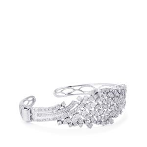 Diamond Cuff in Sterling Silver 5.10ct