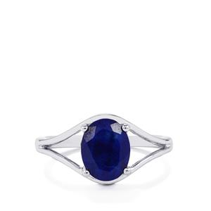 Lapis Lazuli Ring in Sterling Silver 1.79cts