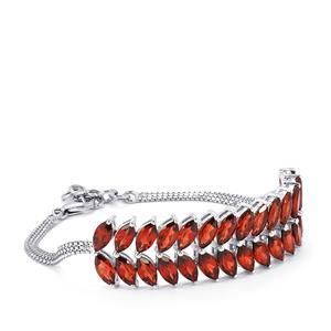 18.85ct Rajasthan Garnet Sterling Silver Bracelet