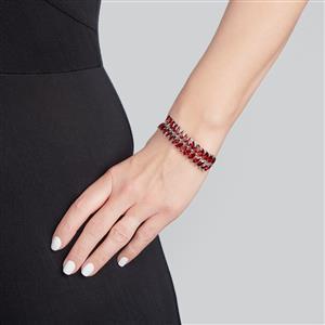 Rajasthan Garnet Bracelet in Sterling Silver 18.85cts