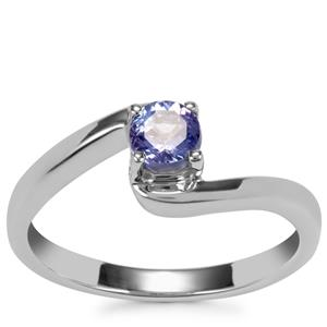 Tanzanite Ring in Sterling Silver 0.42ct