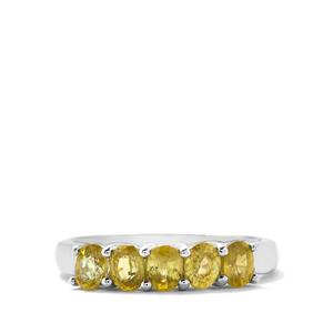 1.15cts Ambilobe Sphene Sterling Silver Ring