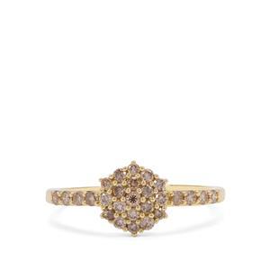 Cape Champagne Diamond Ring in 9K Gold 0.52ct