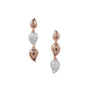 Diamond Earrings in Rose Gold Plated Sterling Silver 0.25ct