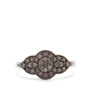 1/2ct Salt and Pepper Diamond Sterling Silver Ring