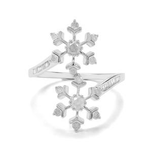 1/2ct Diamond 9K White Gold Ring