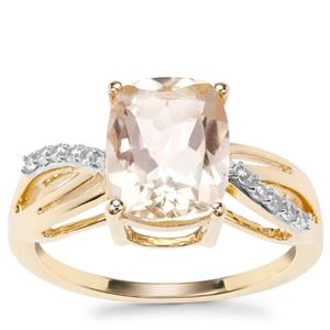 Serenite Ring with White Zircon in 9K Gold 3cts