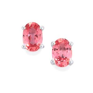 Sakaraha Pink Sapphire Earrings  in Sterling Silver 1.09ct