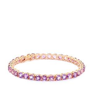 16.46ct Moroccan Amethyst Rose Gold Vermeil Bracelet
