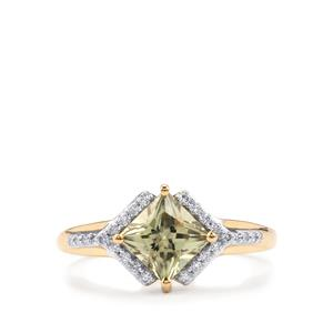 Csarite® Ring with Diamond in 18K Gold 1.54cts
