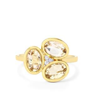 Zambezia Morganite & Diamond 9K Gold Ring ATGW 2.03cts