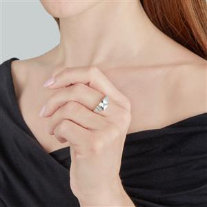 Espirito Santo Aquamarine & White Zircon 10K Gold Ring ATGW 1.59cts