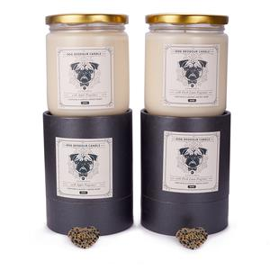 Dog Deodour Candle with Dalmation Jasper Heart