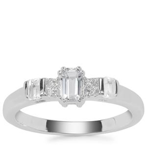 Cullinan Topaz Ring with White Zircon in Sterling Silver 0.64ct