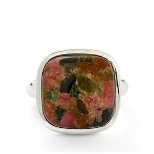 10.00ct Fusion Tourmaline Sterling Silver Aryonna Ring