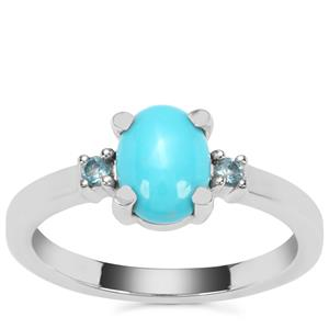 Sleeping Beauty Turquoise Ring with Marambaia London Blue Topaz in Sterling Silver 1cts