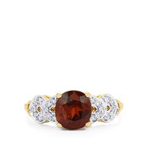 Colour Change Bastnaesite & Diamond 14K Gold Tomas Rae Ring ATGW 3.14cts