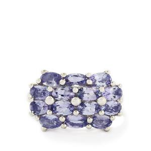 3.11ct AA Tanzanite Sterling Silver Ring