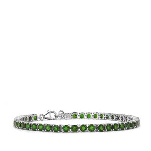 Chrome Diopside Bracelet in Sterling Silver 10.73cts