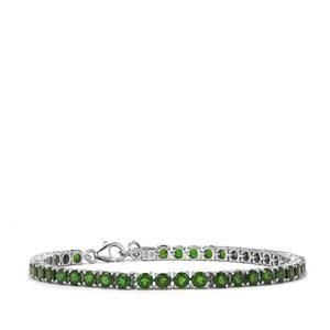 10.73ct Chrome Diopside Sterling Silver Bracelet