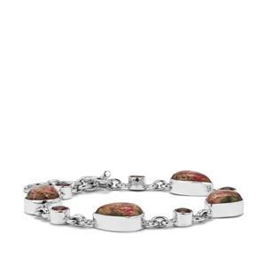 Fusion Tourmaline & Nampula Garnet Sterling Silver Aryonna Bracelet ATGW 24.50cts