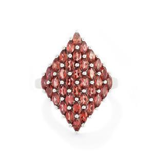 3.79ct Rhodolite Garnet Sterling Silver Ring