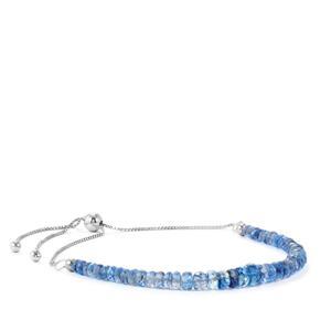 19ct Daha Kyanite Sterling Silver Graduated Slider Bead Bracelet