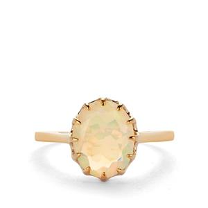 Ethiopian Opal Ring in 9K Gold 1.55cts