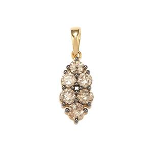 Argyle Diamond Pendant in 18K Gold 1ct