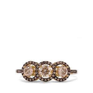 3/4ct Argyle Diamond 18K Gold Ring