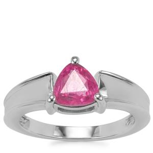 Ilakaka Hot Pink Sapphire Ring in Sterling Silver 1.57cts (F)