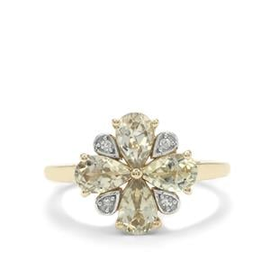 Csarite® Ring with Diamond in 9K Gold 1.75cts