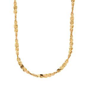"""18"""" Midas Dettaglio Twisted Serpentina Chain 1.93g"""