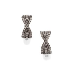 Grey Diamond Earrings in Sterling Silver 0.76ct