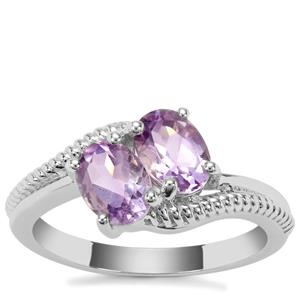 Moroccan Amethyst Ring in Sterling Silver 1.38cts